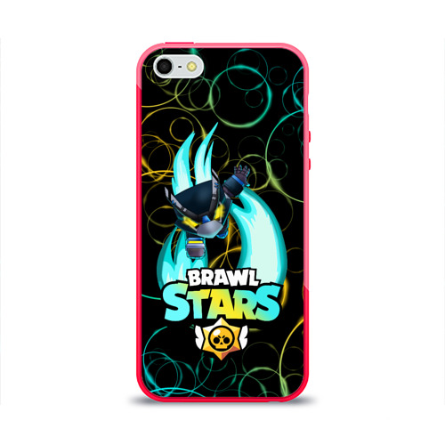 Чехол для iPhone 5/5S глянцевый BRAWL STARS MECHA CROW. Фото 01