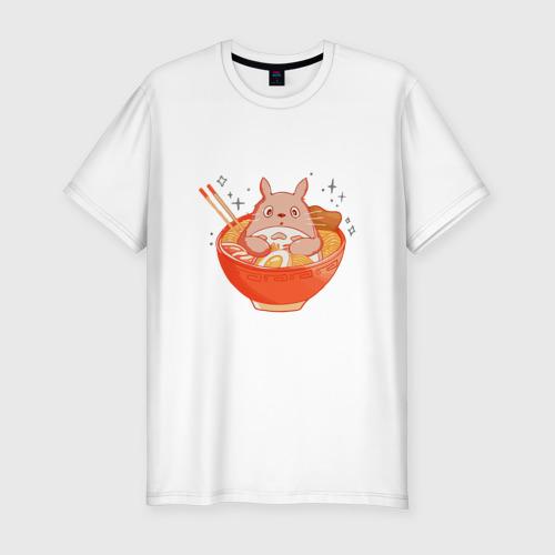 Мужская футболка премиум Вкусный Тоторо Фото 01