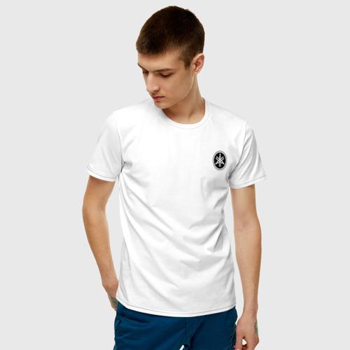 Мужская футболка хлопок ЯМАХА ЛОГО | YAMAHA LOGO (+спина) (Z) Фото 01