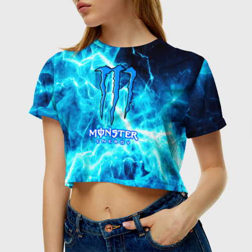 Женская футболка Crop-top 3D MONSTER ENERGY Фото 01