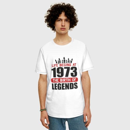 Мужская футболка хлопок Oversize 1973 - рождение легенды Фото 01