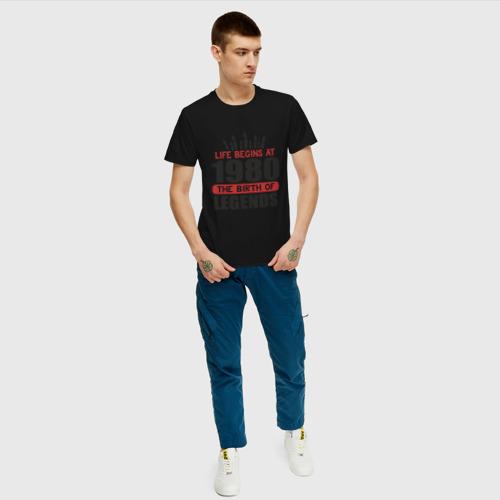 Мужская футболка хлопок 1980 - рождение легенды Фото 01