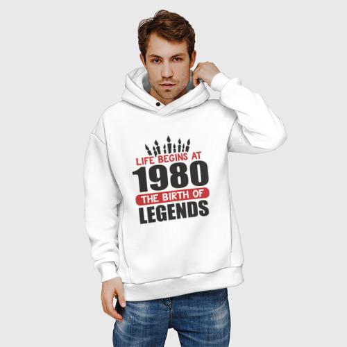 Мужское худи Oversize хлопок 1980 - рождение легенды Фото 01