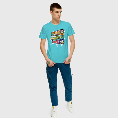 Мужская футболка хлопок Юные титаны Фото 01