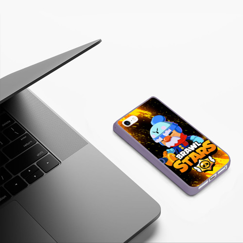 Чехол для iPhone 5/5S матовый BRAWL STARS GALE. Фото 01