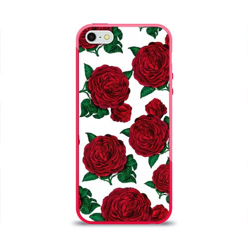 Чехол для iPhone 5/5S глянцевый Винтажные розы Фото 01