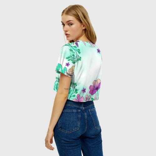 Женская футболка Crop-top 3D Нежность полей Фото 01