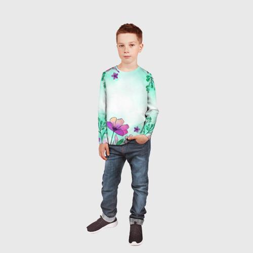 Детский лонгслив 3D Нежность полей Фото 01
