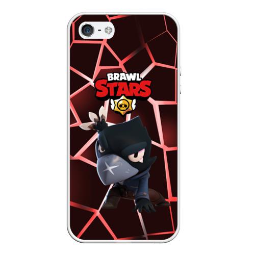 Чехол для iPhone 5/5S матовый Brawl Stars CROW Фото 01