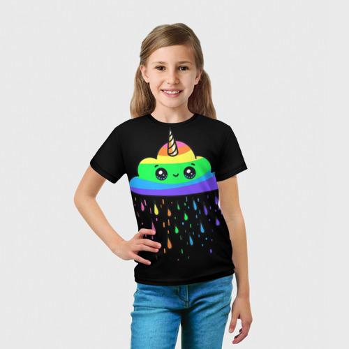 Детская футболка 3D Радужное облачко за  1090 рублей в интернет магазине Принт виды с разных сторон