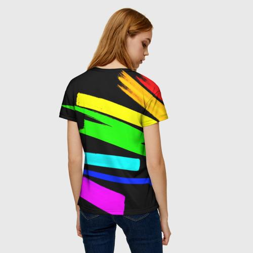 Женская футболка 3D НЕОНОВЫЕ КРАСКИ Фото 01