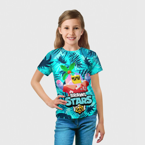 Детская футболка 3D BRAWL STARS TROPICAL SPROUT. Фото 01