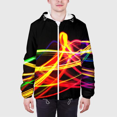Мужская куртка 3D АБСТРАКТНЫЕ ЛУЧИ Фото 01