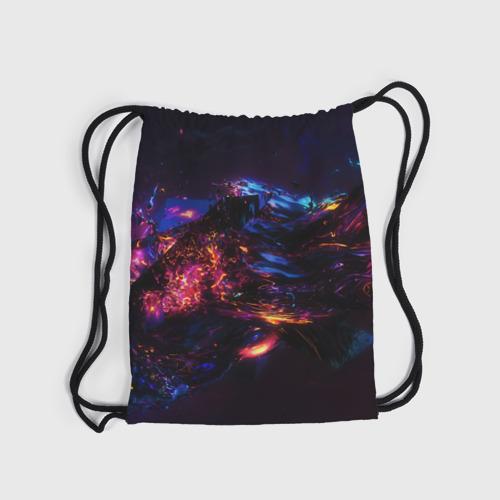 Рюкзак-мешок 3D ФРАКТАЛЬНЫЙ НЕОН Фото 01