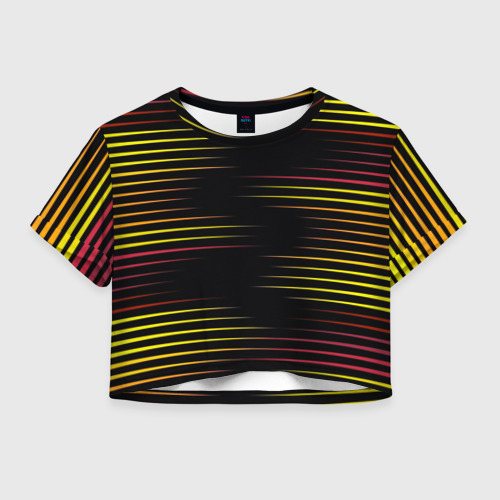 Женская футболка Crop-top 3D HORIZONTAL GEOMETRY Фото 01