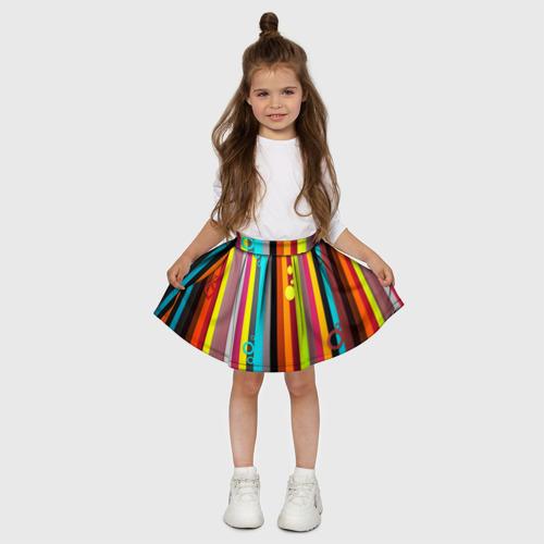 Детская юбка-солнце 3D РАДУЖНАЯ ГЕОМЕТРИЯ Фото 01