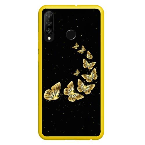 Чехол для Honor P30 Lite Golden Butterfly in Space Фото 01