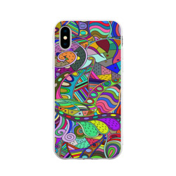 Дудлы узор разноцветный хиппи