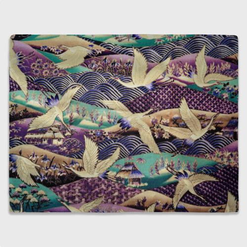 Плед 3D Японская вышивка с журавлями Фото 01