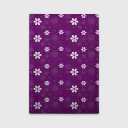 узор цветы на фиолетовом фоне