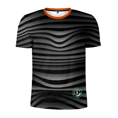 Мужская футболка 3D спортивная Russia Running Фото 01