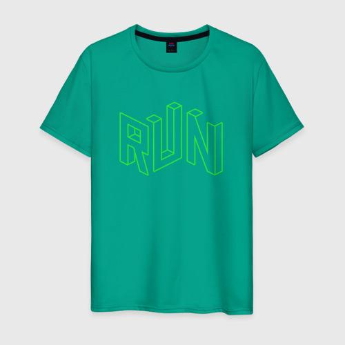 Мужская футболка хлопок Run Фото 01