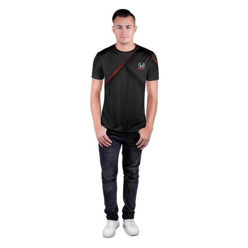 Мужская футболка 3D спортивная HONDA   ХОНДА (Z) Фото 01