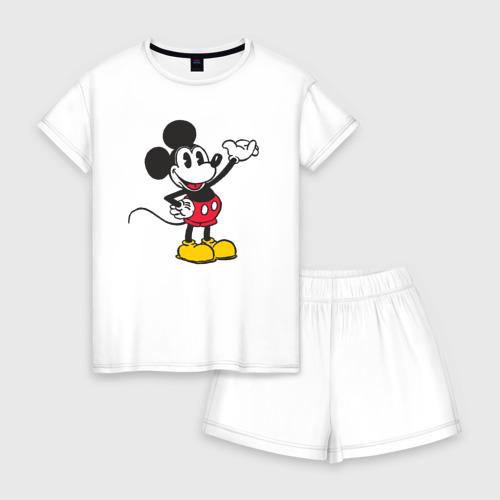 Женская пижама с шортиками хлопок Микки Маус Фото 01