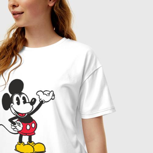 Женская футболка хлопок Oversize Микки Маус Фото 01