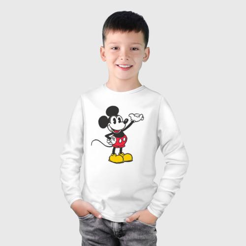 Детский лонгслив хлопок Микки Маус Фото 01