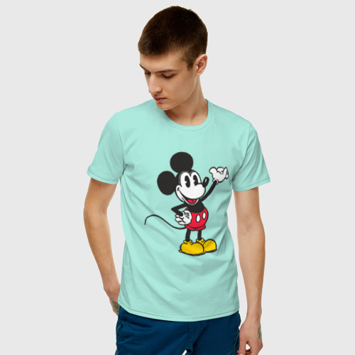 Мужская футболка хлопок Микки Маус Фото 01