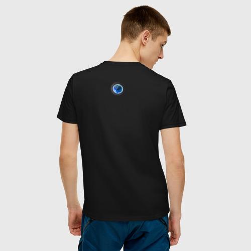 Мужская футболка хлопок Синие дебри Фото 01