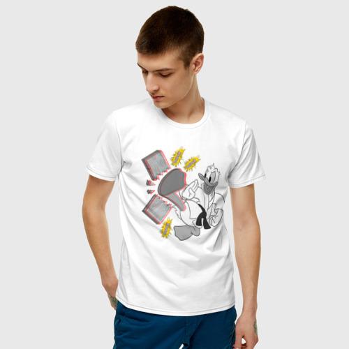 Мужская футболка хлопок Дональд Дак каратист Фото 01