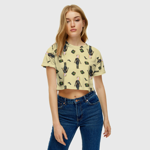 Женская футболка Crop-top 3D Бет Фото 01