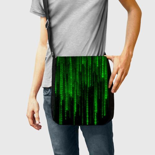 Сумка через плечо Матрица код цифры программист Фото 01