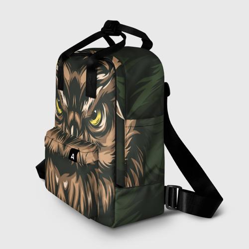 Женский рюкзак 3D Хищная сова Фото 01