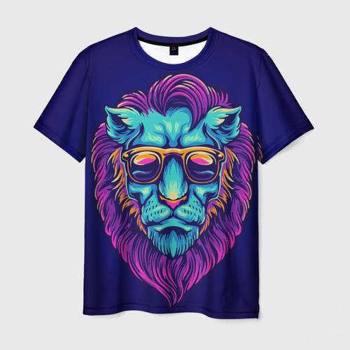 Неоновый лев в очках