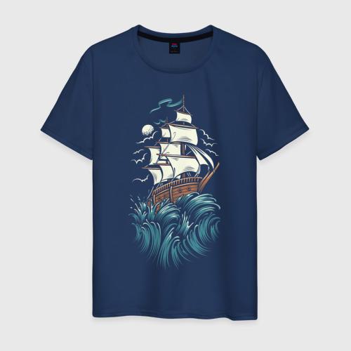 Мужская футболка хлопок Борьба моряка Фото 01