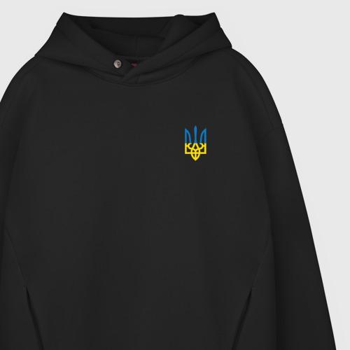 Мужское худи Oversize хлопок Герб Украины  Фото 01
