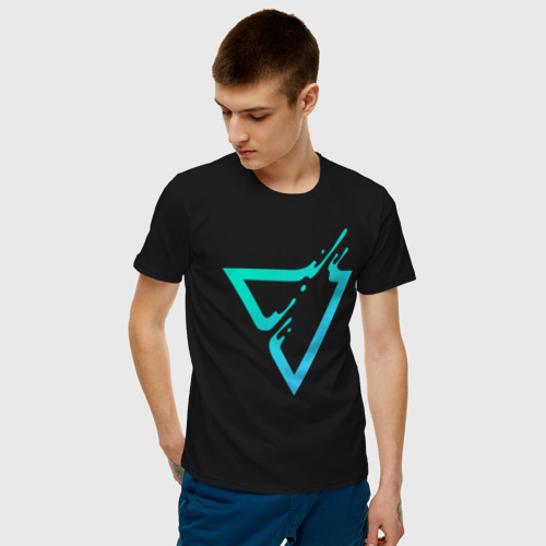 Мужская футболка хлопок Paint Drop Triangle Фото 01