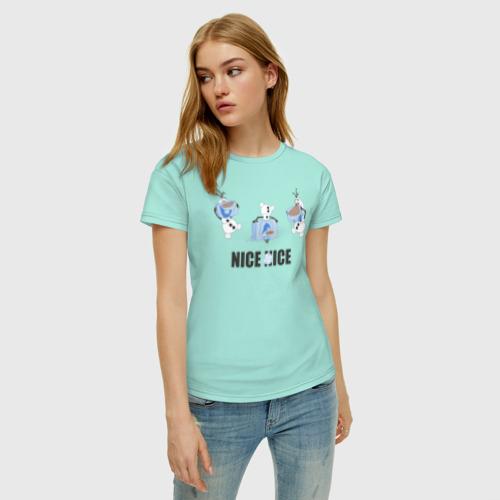 Женская футболка хлопок Олаф. Холодное сердце Фото 01