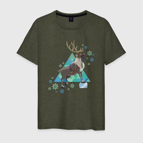 Мужская футболка хлопок Олень Свен. Холодное сердце Фото 01