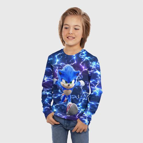 Детский лонгслив 3D Sonic | Соник Фото 01