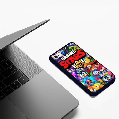 Чехол для iPhone 6/6S матовый BRAWL STARS ВСЕ ПЕРСОНАЖИ Фото 01