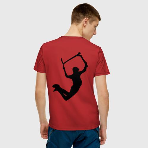 Мужская футболка хлопок Самокат фристайл трюк экстрим  Фото 01