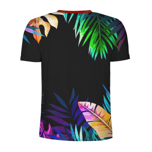 Мужская футболка 3D спортивная Тропическая Ночь Фото 01