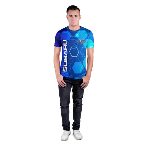 Мужская футболка 3D спортивная SUBARU. Фото 01