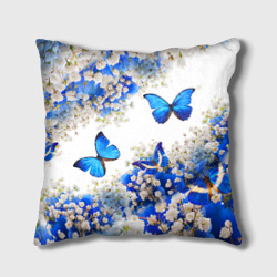 Butterfly   Blue White