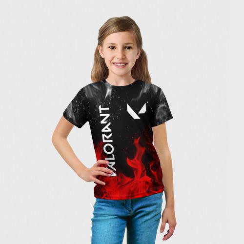Детская футболка 3D VALORANT | ВАЛОРАНТ за  1090 рублей в интернет магазине Принт виды с разных сторон
