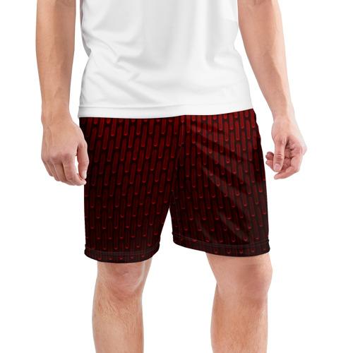 Мужские шорты спортивные текстура красный градиент  Фото 01